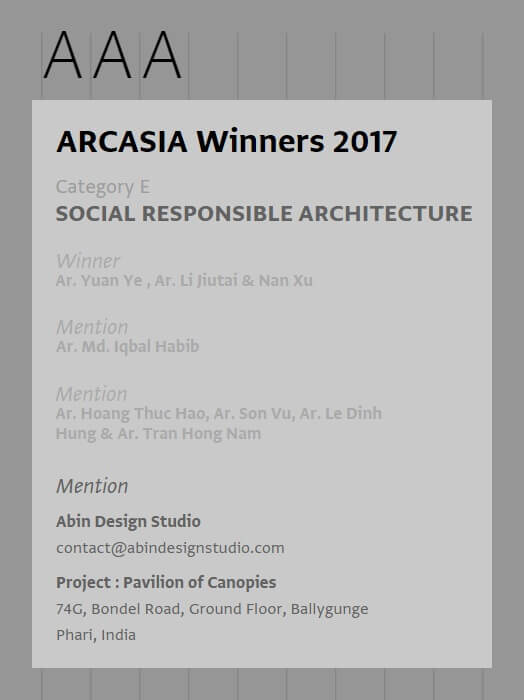 ARCASIA Awards for Architecture AAA